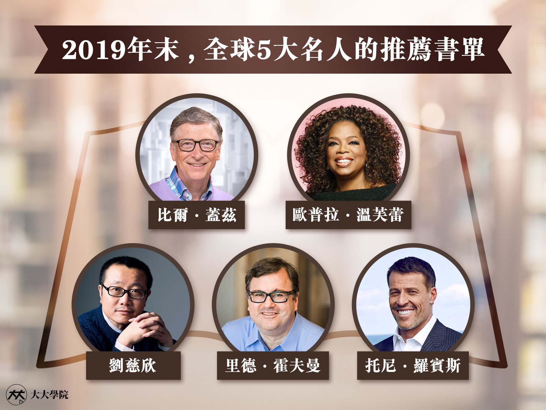 2020回顧經典好書!【大大學院】為你網羅全球5大頂尖人士,都在讀的15本書