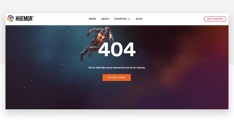 7種吸引目光的「404錯誤頁面」,善用也能成為品牌推廣利器