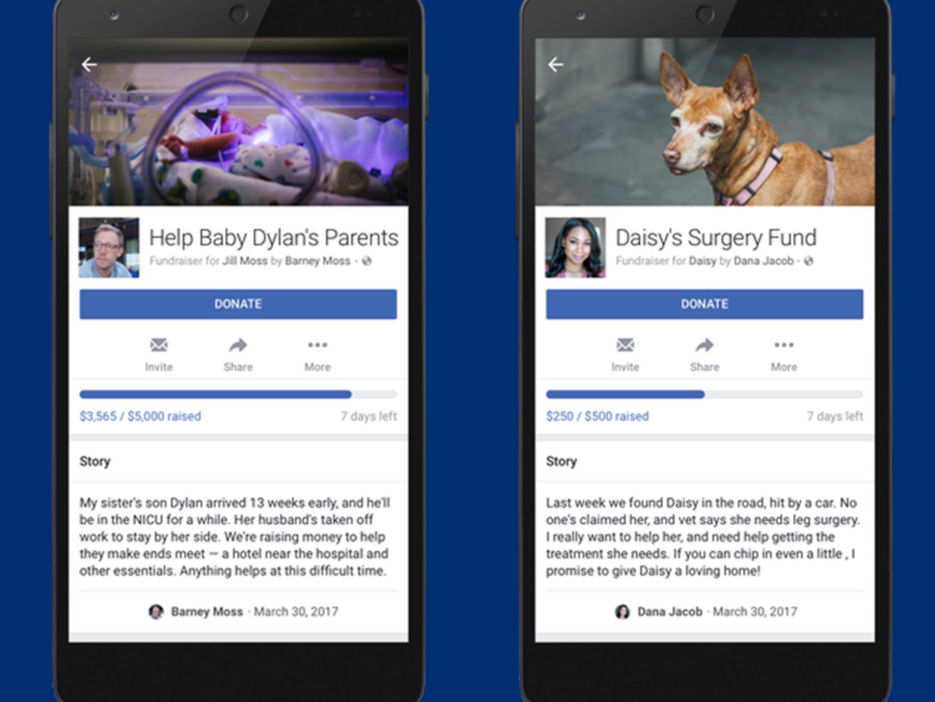 美國臉書開放個人募資功能,但聲明僅限「非營利目的」使用