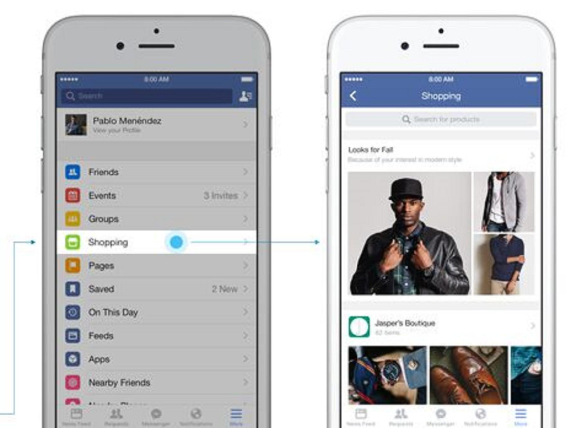 再朝電商邁進一步,Facebook 行動購物功能頁測試上線!