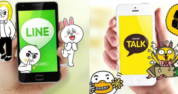 LINE、KakaoTalk 搶攻遊戲,韓國通訊程式大對抗!